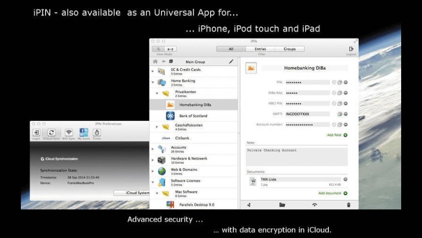 iPIN for Mac - review, screenshots