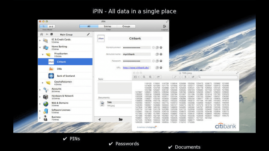 iPIN for Mac - review, screenshots
