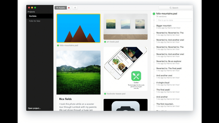 Folio for Mac - review, screenshots
