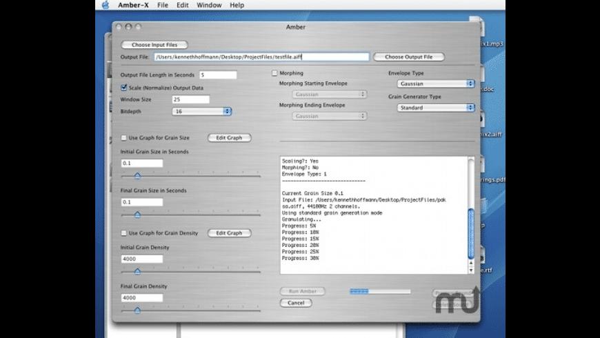 Amber-X for Mac - review, screenshots