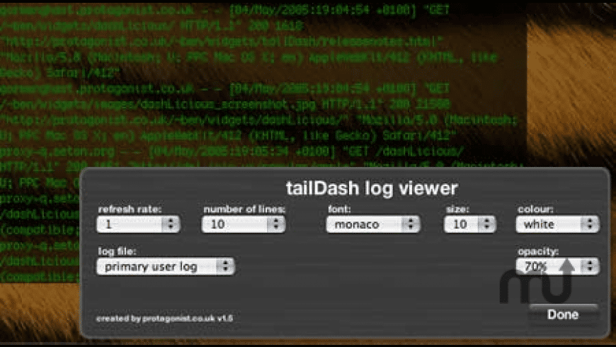 tailDash for Mac - review, screenshots