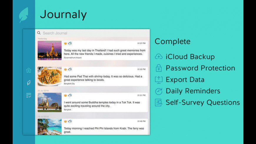 Journaly for Mac - review, screenshots