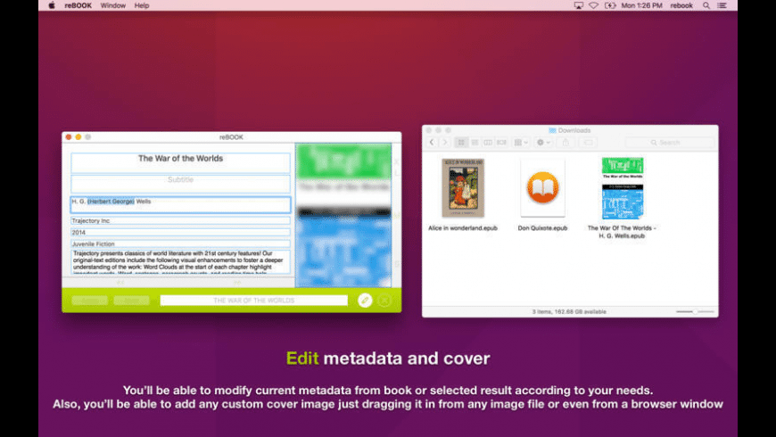 reBOOK for Mac - review, screenshots