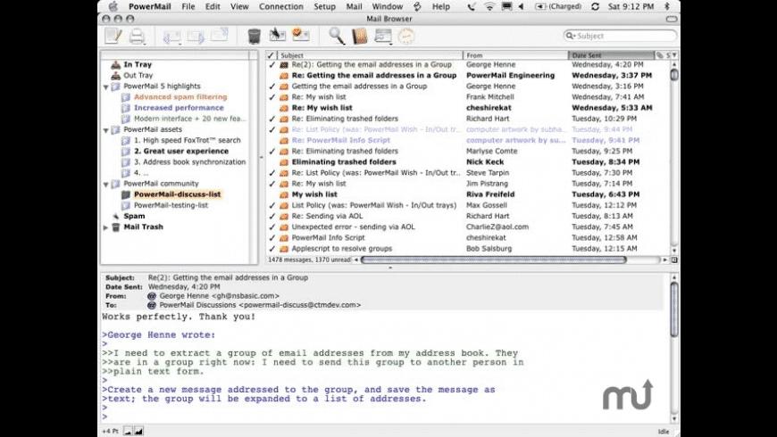 PowerMail for Mac - review, screenshots