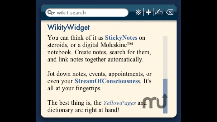 WikityWidget for Mac - review, screenshots
