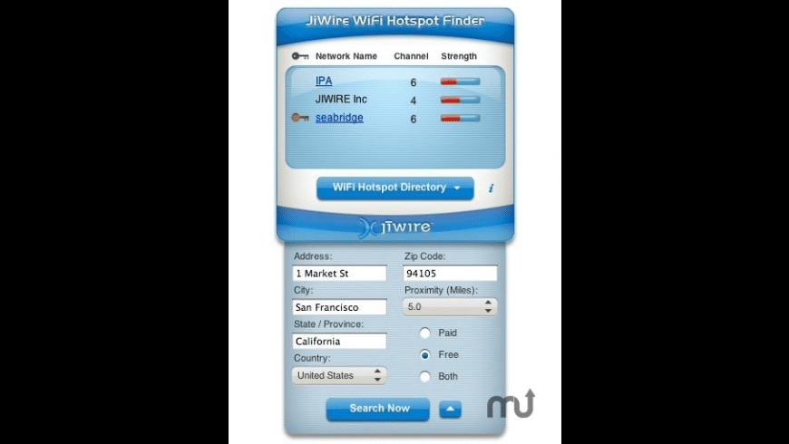 JiWire WiFi Hotspot Finder for Mac - review, screenshots