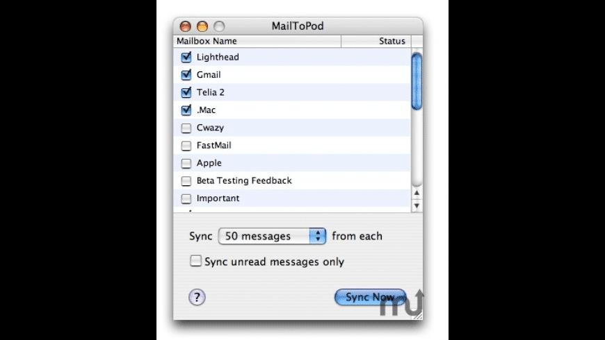 MailToPod for Mac - review, screenshots