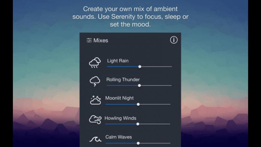 Serenity for Mac - review, screenshots