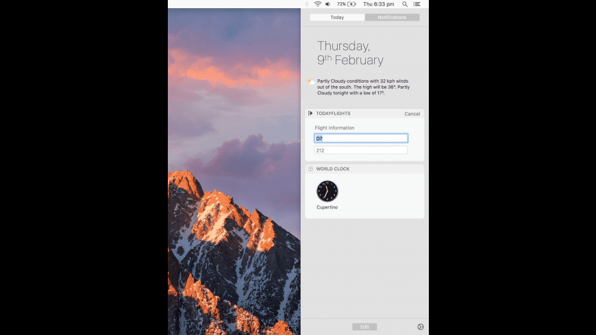 TodayFlights for Mac - review, screenshots