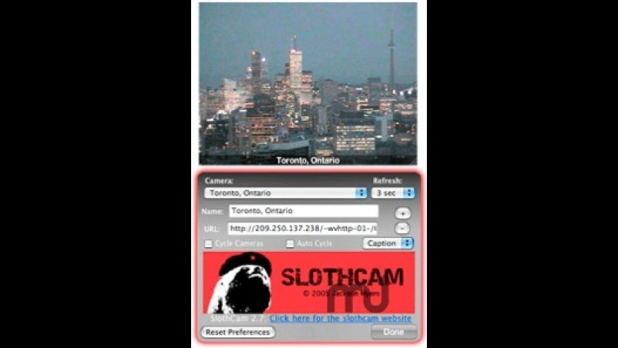 SlothCam for Mac - review, screenshots