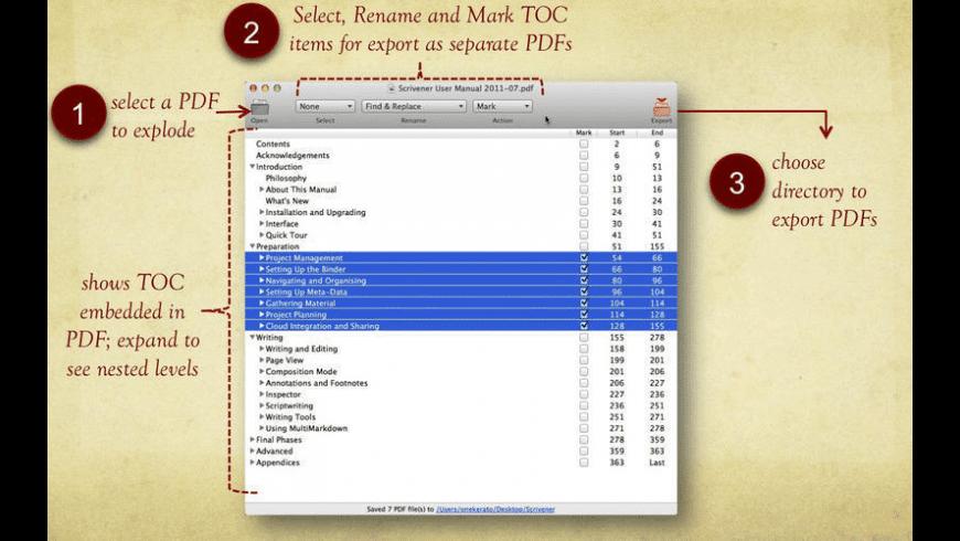 PDFExplode for Mac - review, screenshots