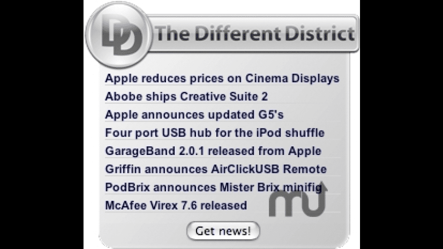 Different District Widget for Mac - review, screenshots