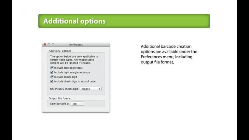 Barcode Basics for Mac - review, screenshots