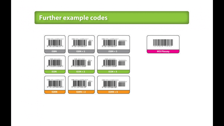 Barcode Basics for Mac - review, screenshots