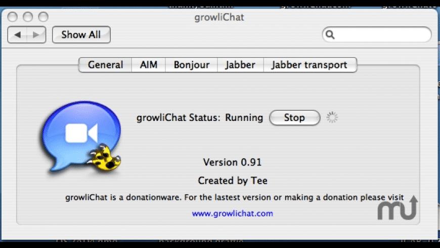 growliChat for Mac - review, screenshots