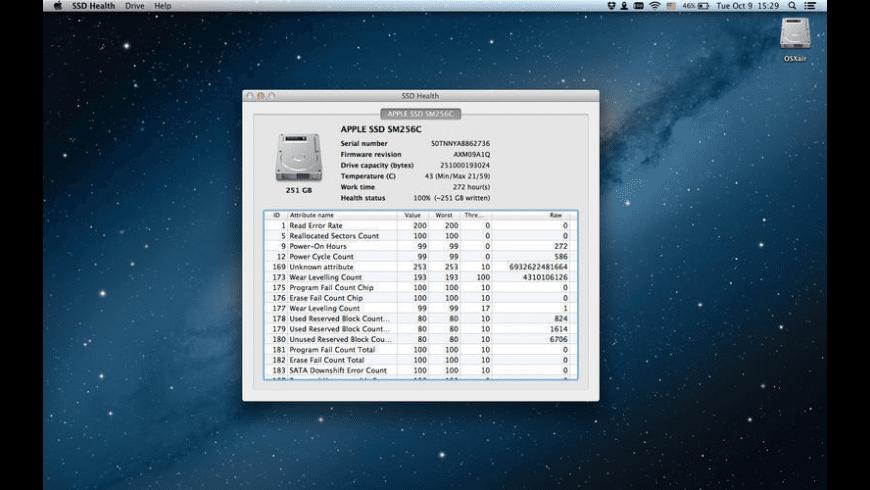 SSD Health for Mac - review, screenshots