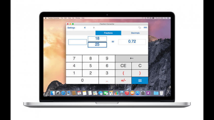 Fraction Converter for Mac - review, screenshots