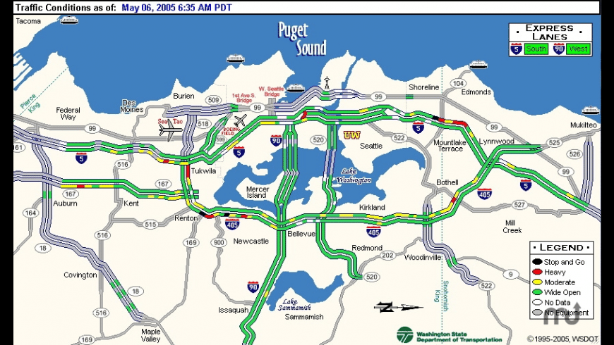 SeattleTraffic for Mac - review, screenshots
