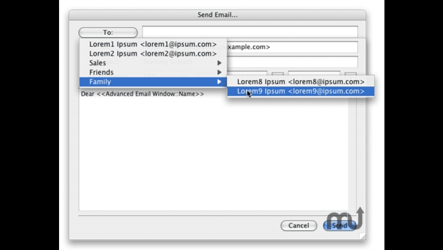 MMEmail for Mac - review, screenshots