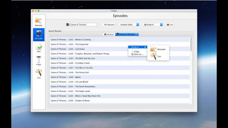 FileBot for Mac - review, screenshots