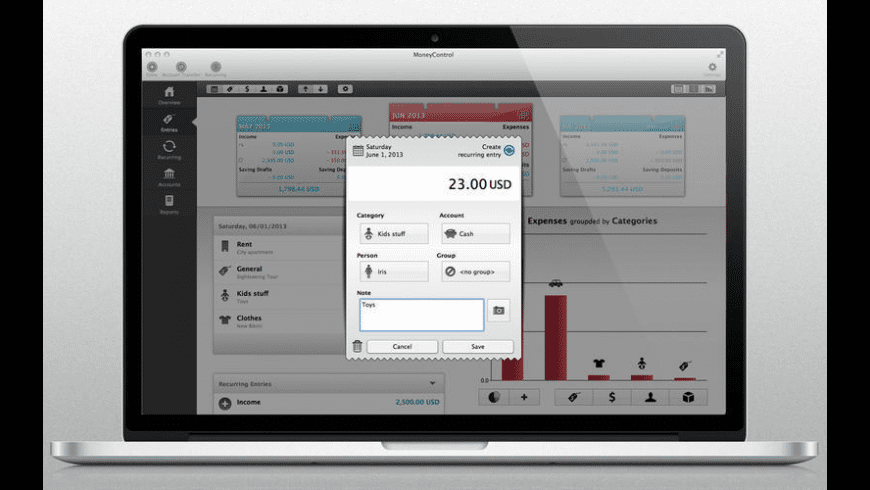 MoneyControl for Mac - review, screenshots