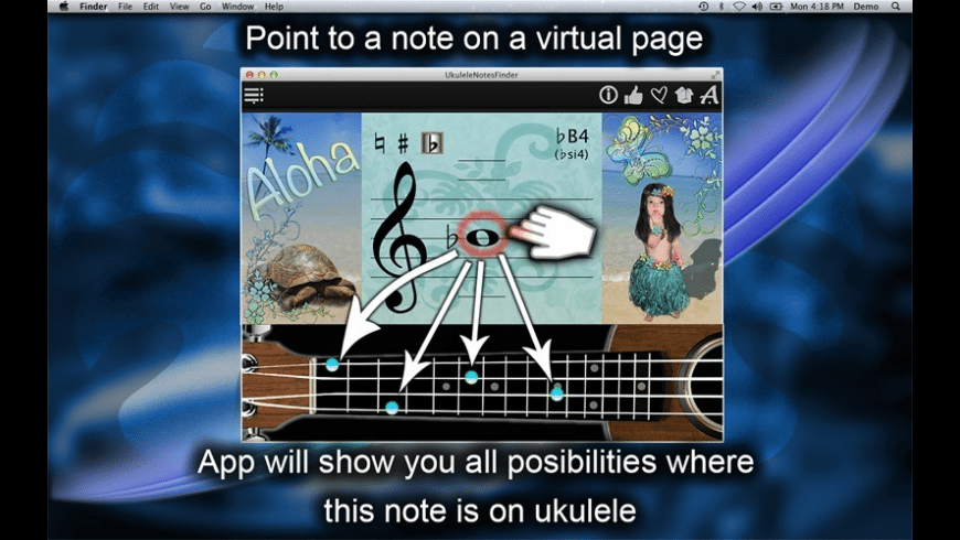 UkuleleNotesFinder for Mac - review, screenshots
