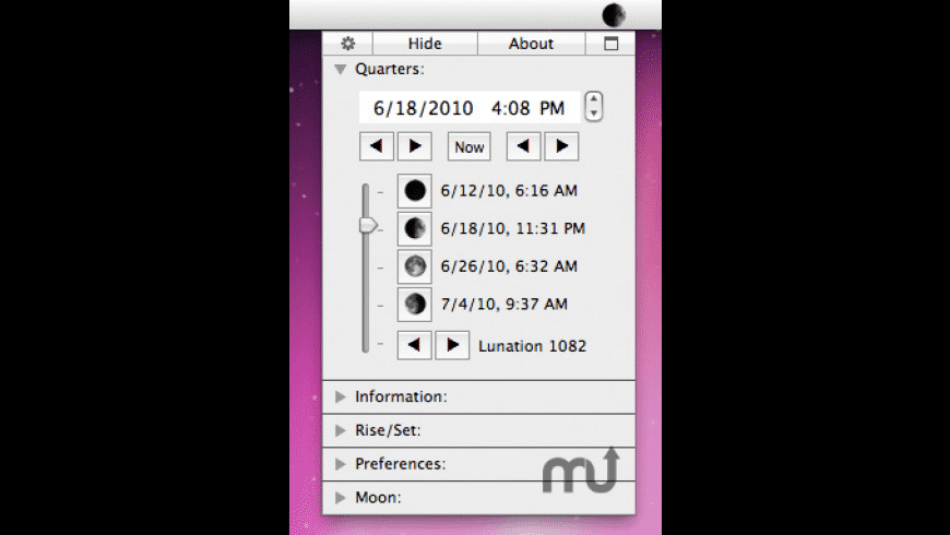 MoonMenu for Mac - review, screenshots