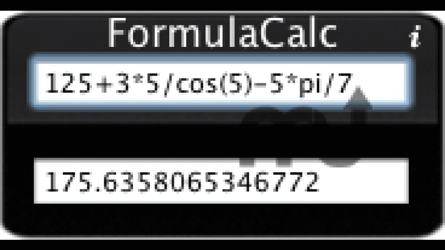 FormulaCalc for Mac - review, screenshots