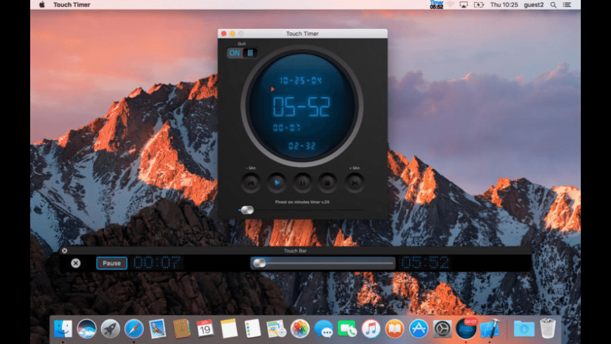 Touch Timer for Mac - review, screenshots