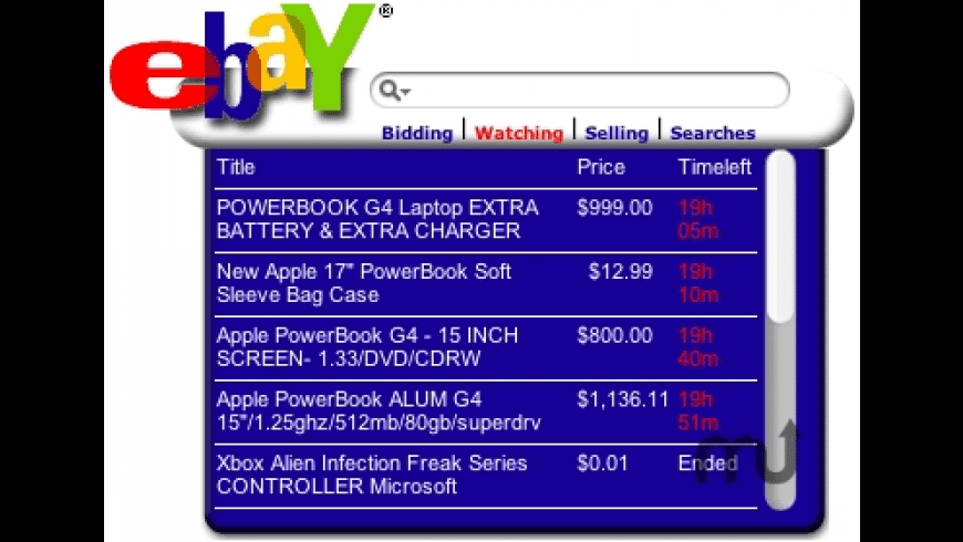 eBay Widget for Mac - review, screenshots