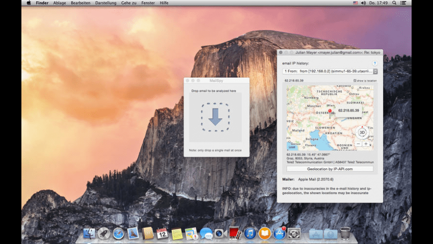 MailSpy for Mac - review, screenshots