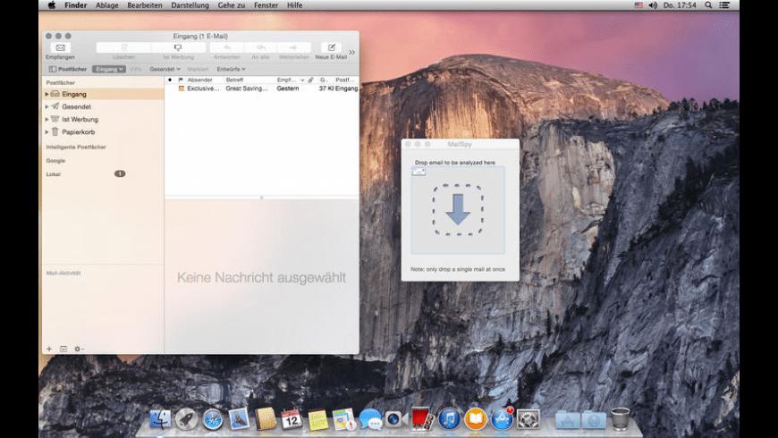 MailSpy for Mac - review, screenshots