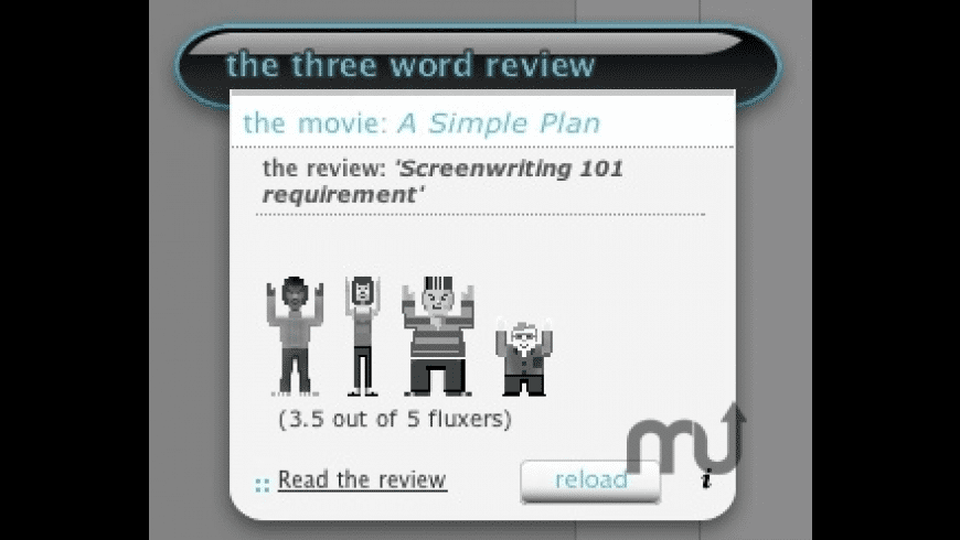 3 Word Review widget for Mac - review, screenshots