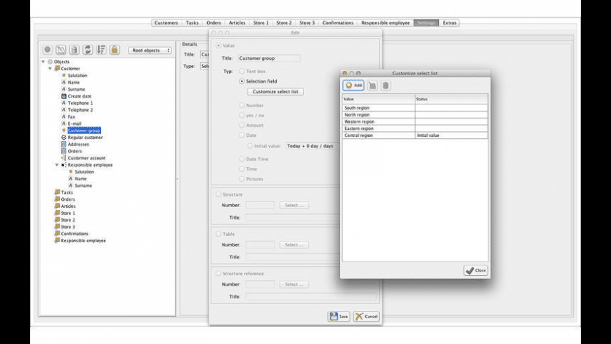 Universal Database for Mac - review, screenshots
