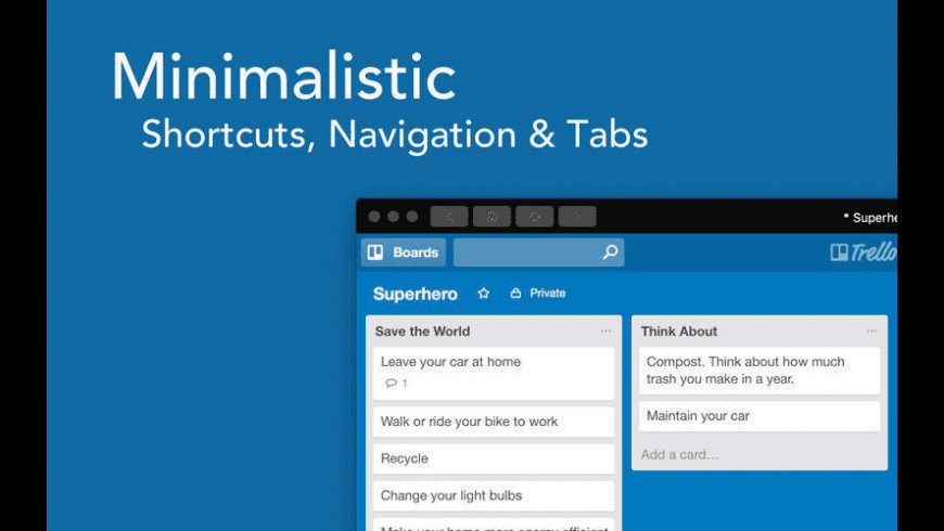 Boards for Trello for Mac - review, screenshots