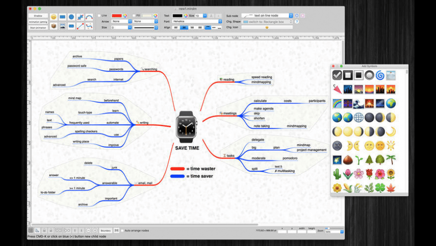 MindmapDesign for Mac - review, screenshots