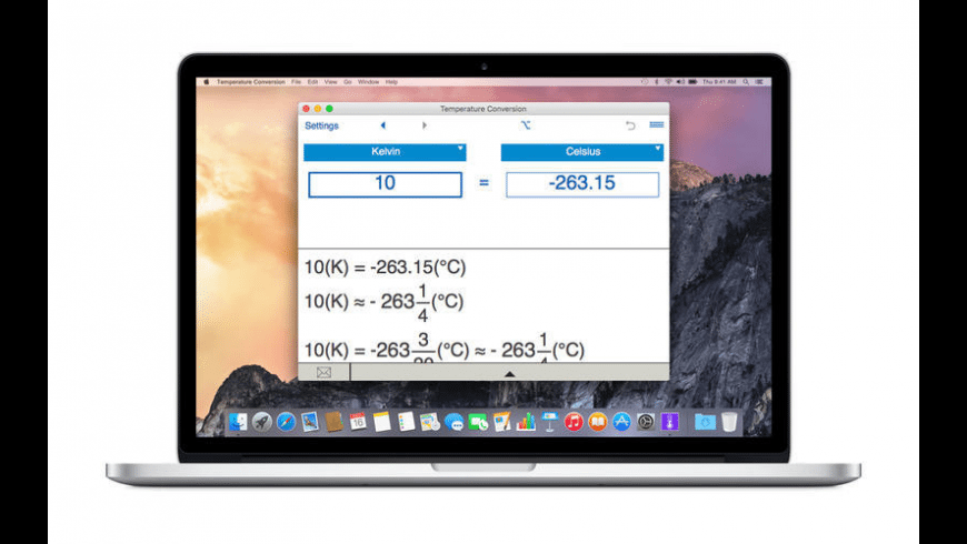 Temperature Conversion for Mac - review, screenshots