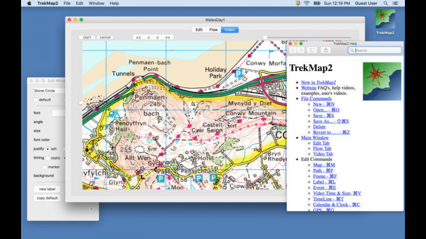 TrekMap for Mac - review, screenshots