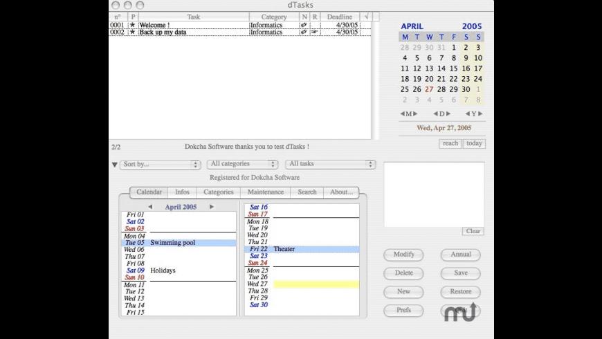 dTasks for Mac - review, screenshots