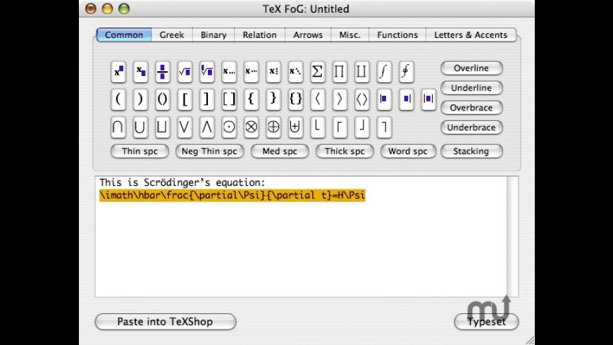 Tex FoG for Mac - review, screenshots