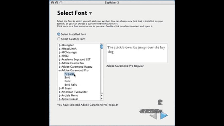 SigMaker for Mac - review, screenshots