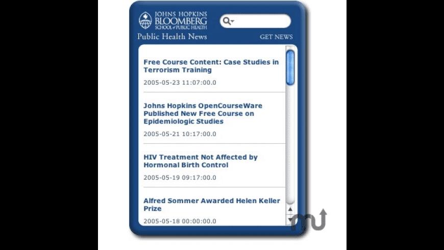Public Health News Widget for Mac - review, screenshots