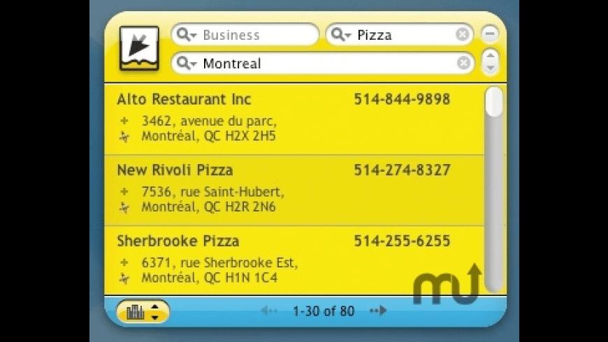 Canada411 for Mac - review, screenshots