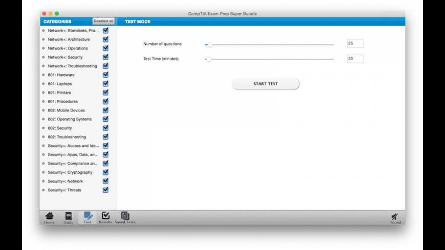 CompTIA Exam Prep Super Bundle for Mac - review, screenshots