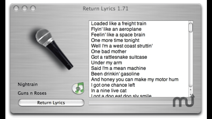Return Lyrics for Mac - review, screenshots