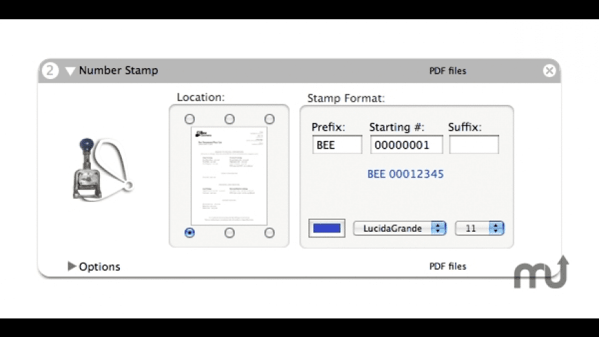 Number Stamper for Mac - review, screenshots