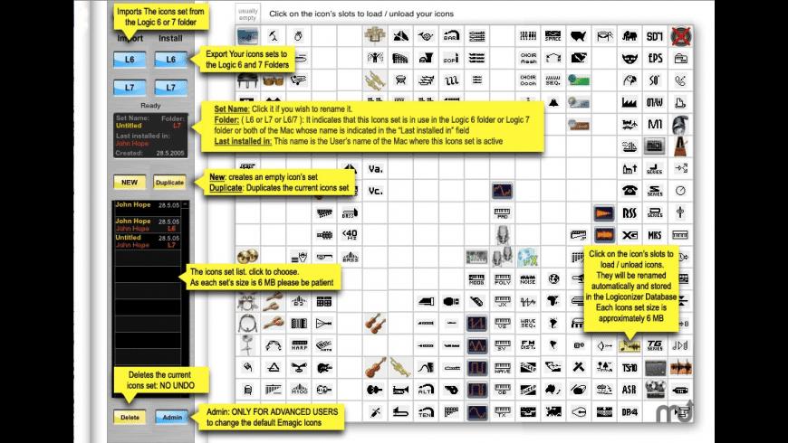Logiconizer for Mac - review, screenshots