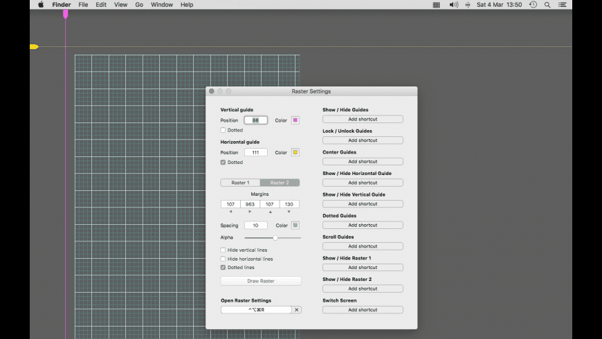 Raster for Mac - review, screenshots