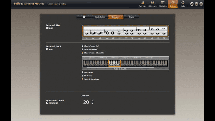 Solfege Singing Trainer for Mac - review, screenshots