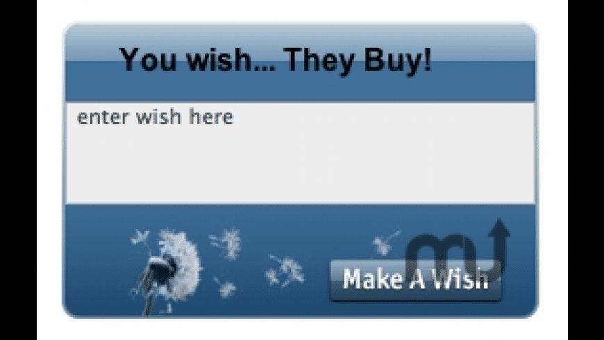 Personal WishList Widget for Mac - review, screenshots